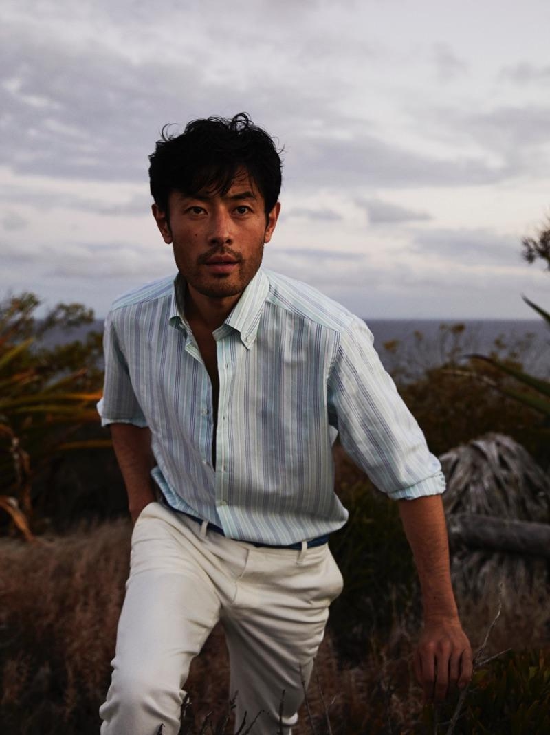 Yusuke Ogasawara Dons Chic Summer Style for The Rake