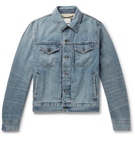 rag & bone - Definitive Embroidered Selvedge Denim Jacket - Men - Blue