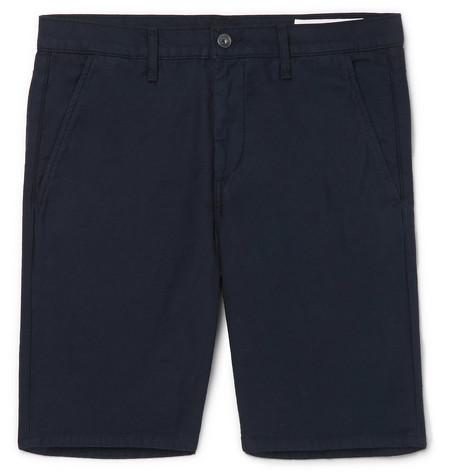 rag & bone - Standard Issue Cotton-Twill Shorts - Men - Navy
