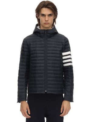 4 Bar Stripe Quilted Down Jacket