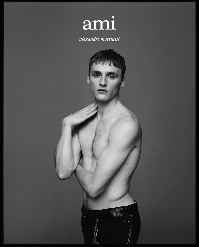 Sebastian Chaumeton appears in AMI's fall-winter 2019 campaign.