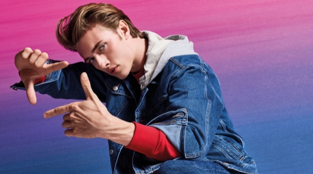 Lucky Blue Smith Goes Casual for Armani Exchange Fall '19 Campaign