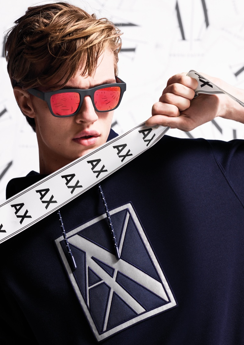Armani Exchange taps Lucky Blue Smith to star in its fall-winter 2019 campaign.