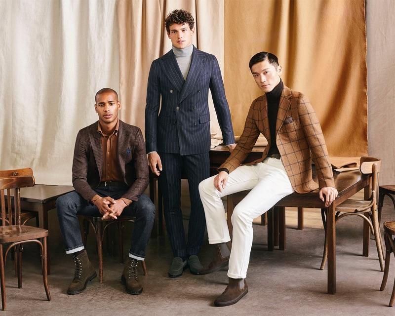 Giacomo Cavalli, Daisuke Ueda & Sacha M'Baye Front Atelier Munro Fall '19 Campaign