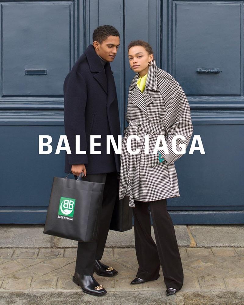 Matthew Seymour and Alexis Sundman front Balenciaga's fall-winter 2019 campaign.