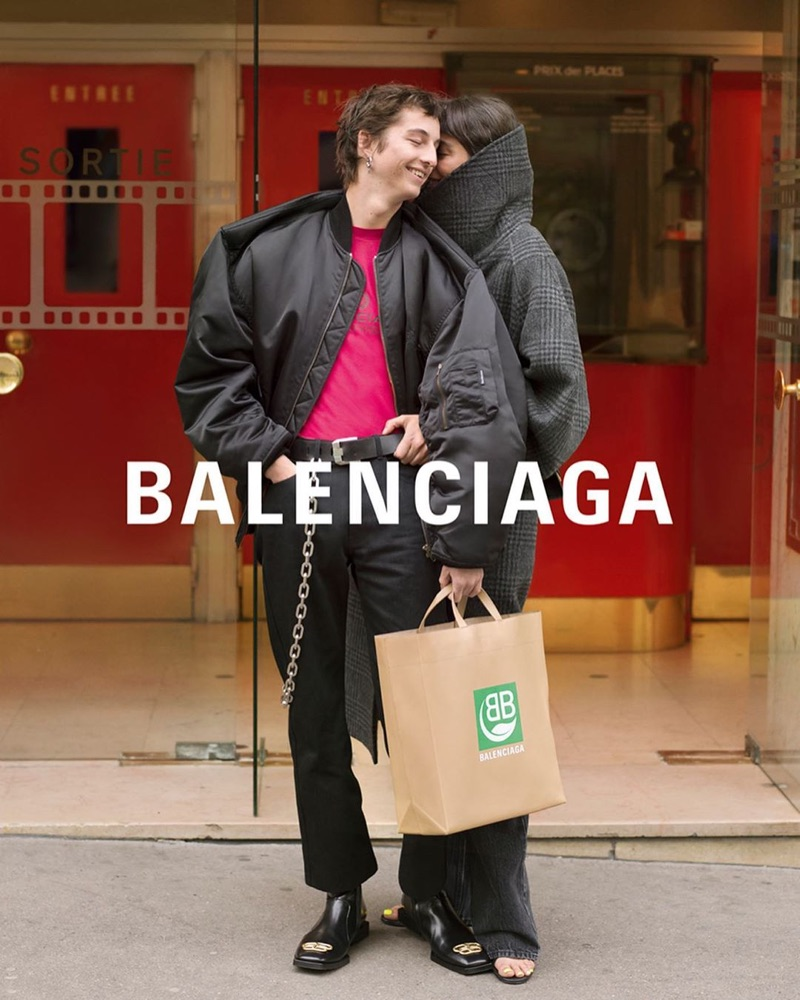Alexander Carey-Morgan and Matilde front Balenciaga's fall-winter 2019 campaign.