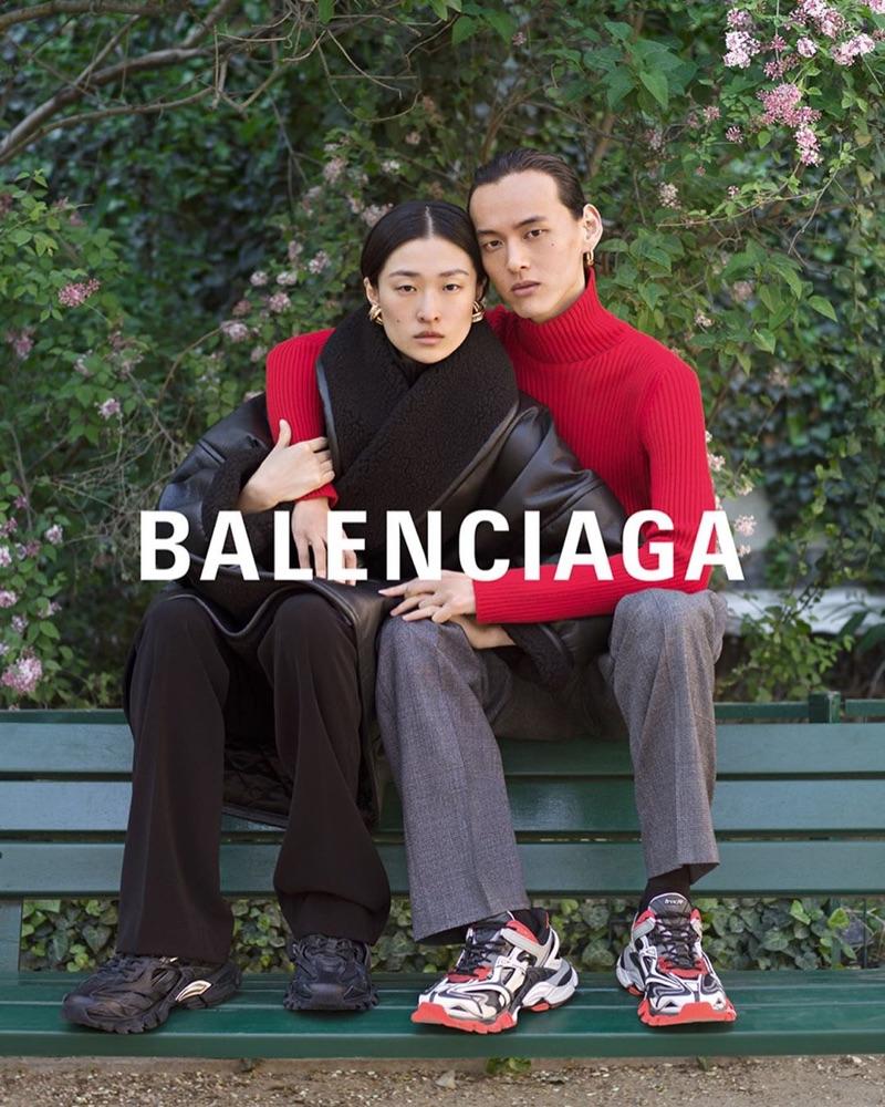 Chu Wong and David Yang star in Balenciaga's fall-winter 2019 campaign.