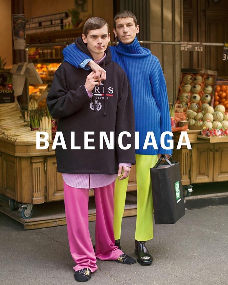 Antoine and David Zachar Bellini star in Balenciaga's fall-winter 2019 campaign.