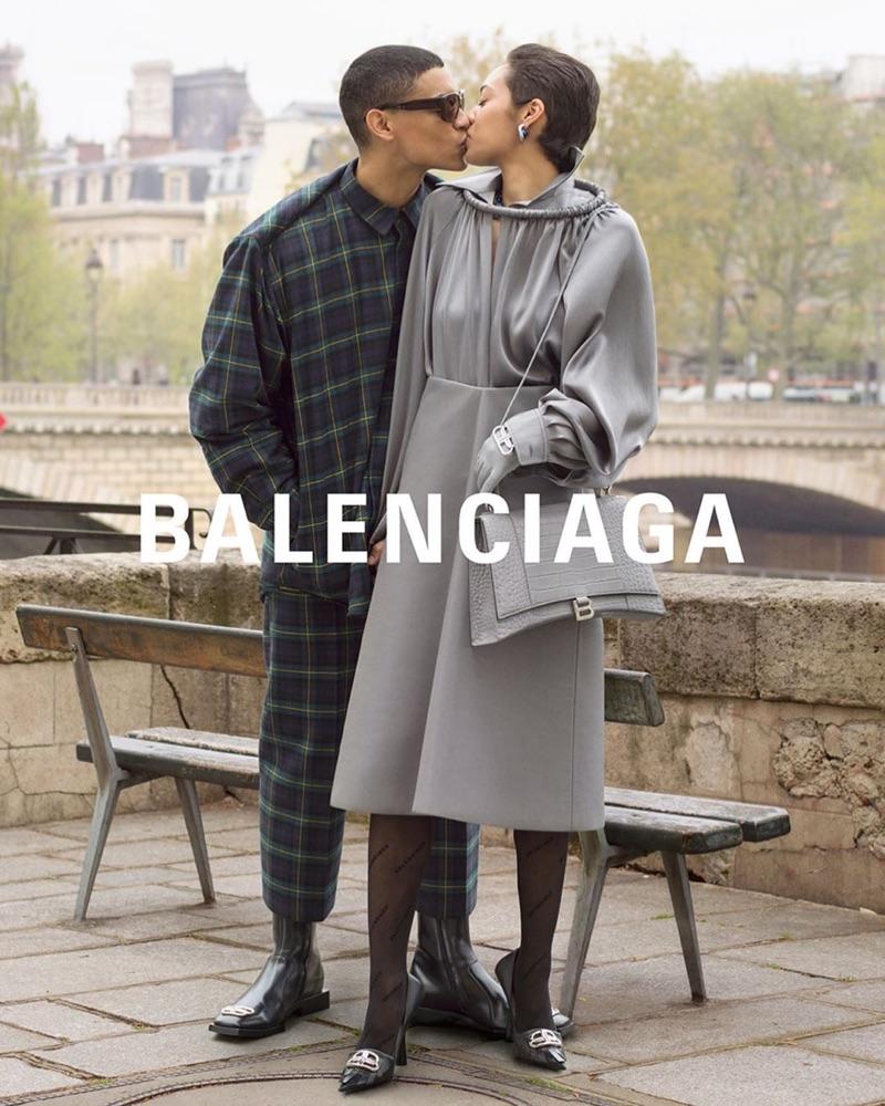 Kelvin Dupres and Ariana Simone appear in Balenciaga's fall-winter 2019 campaign.