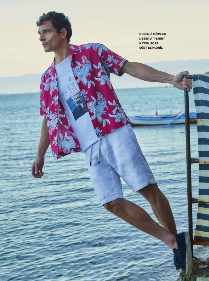 Alexandre Cunha sports a summer look from Beymen Club.