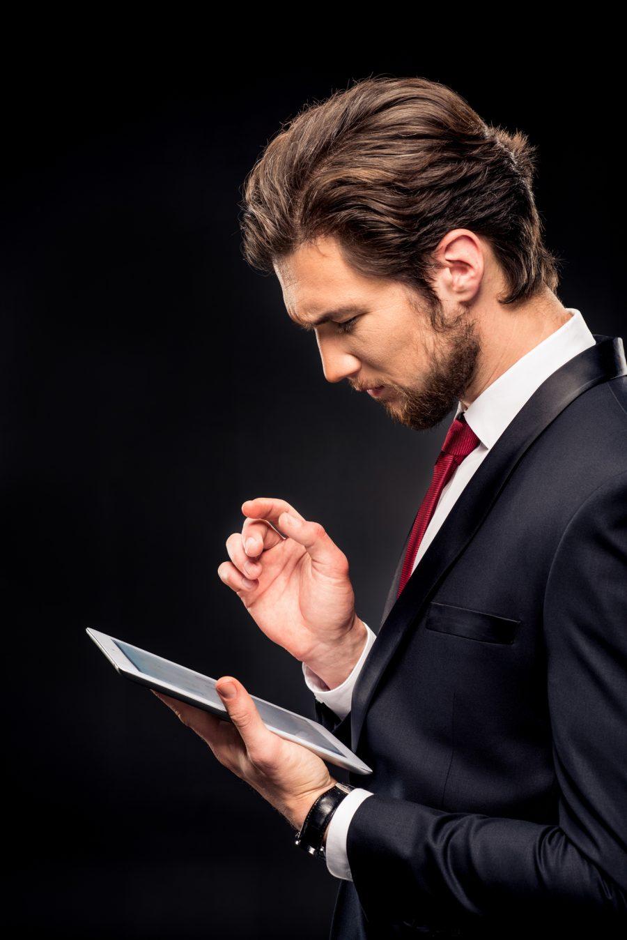 Business Man Tablet Suit