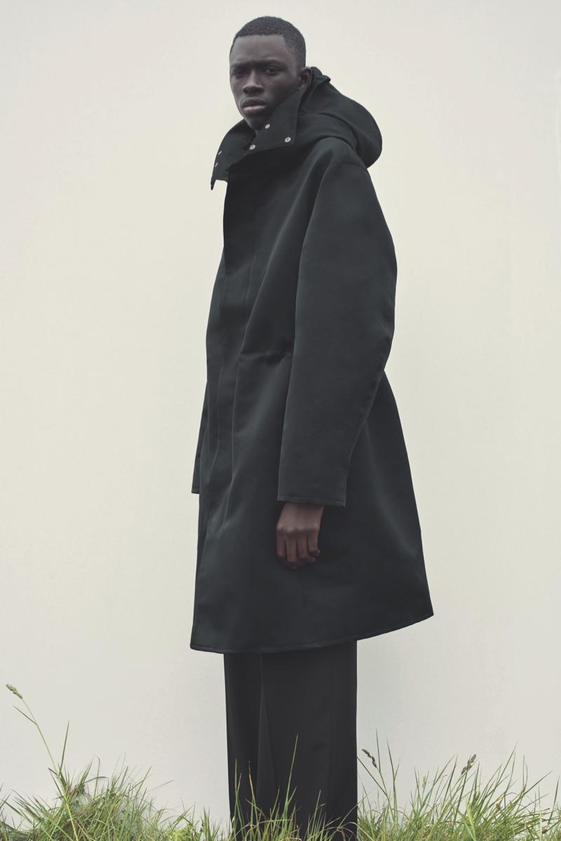 Mark Borthwick photographs Khadim Sock for COS' fall-winter 2019 campaign.