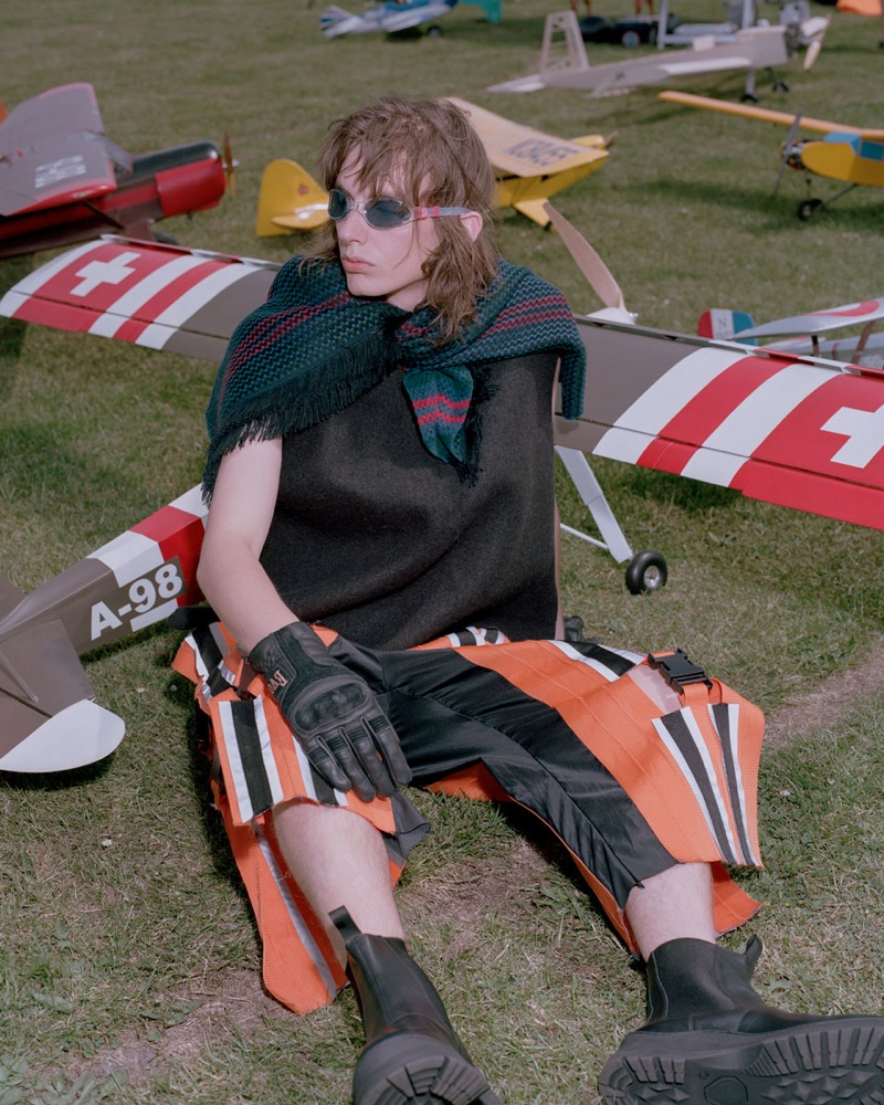 Casper Plantinga Models Quirky Fashions for Glamcult