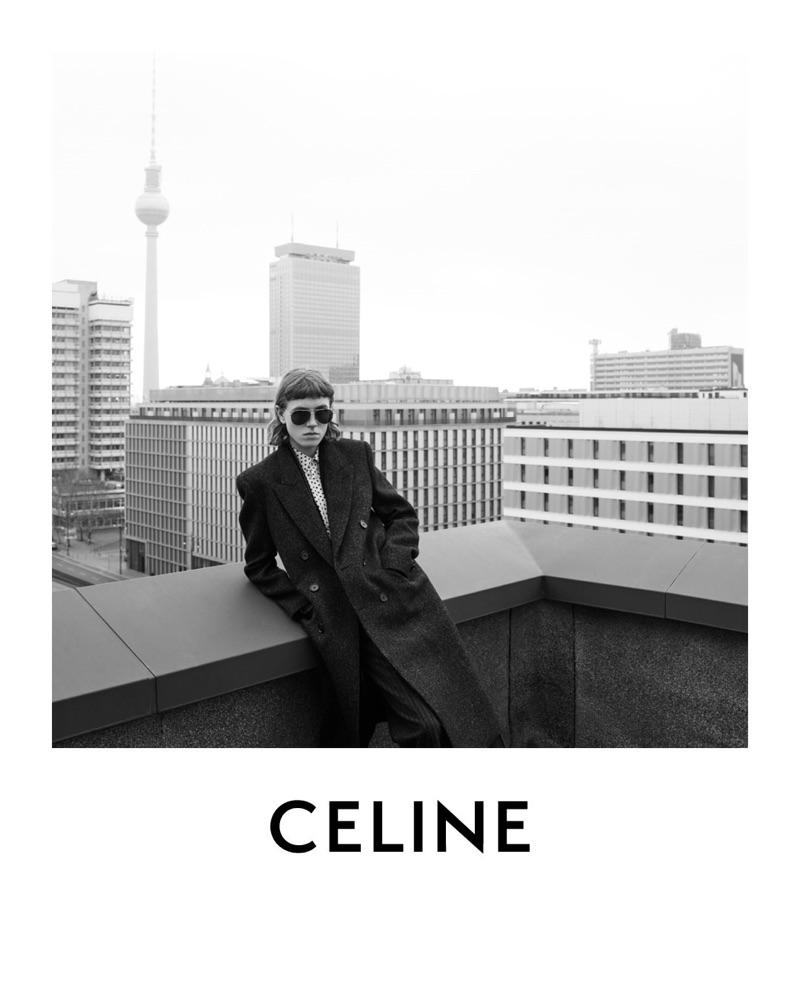 Steffen Peetz stars in Celine's fall-winter 2019 men's campaign.