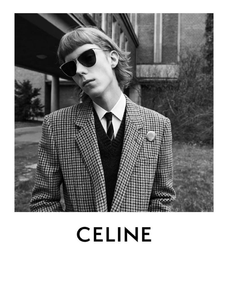 Niall Walker appears in Celine's fall-winter 2019 men's campaign.