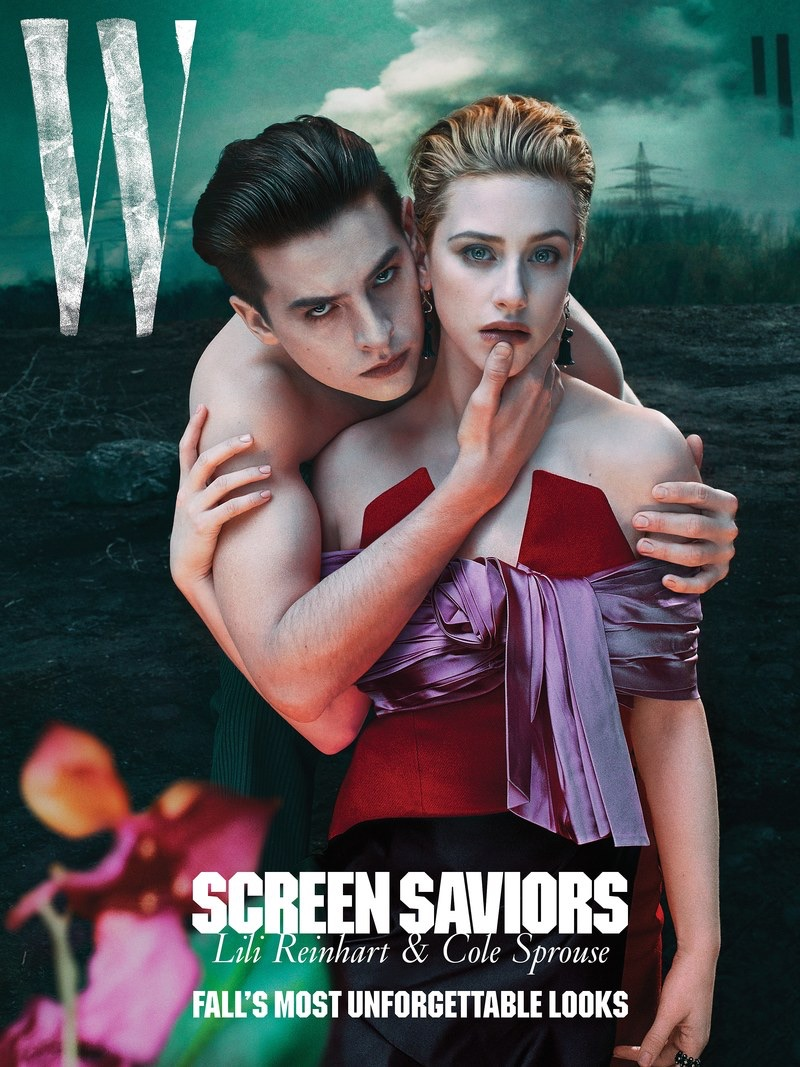 Cole Sprouse and Lili Reinhart cover W magazine.
