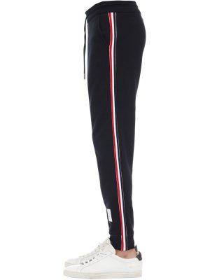 Cotton Sweatpants W/4 Bar Stripe