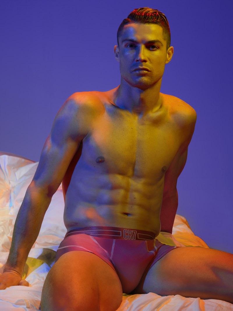 Captured in bed, Cristiano Ronaldo stars in the CR7 underwear campaign.