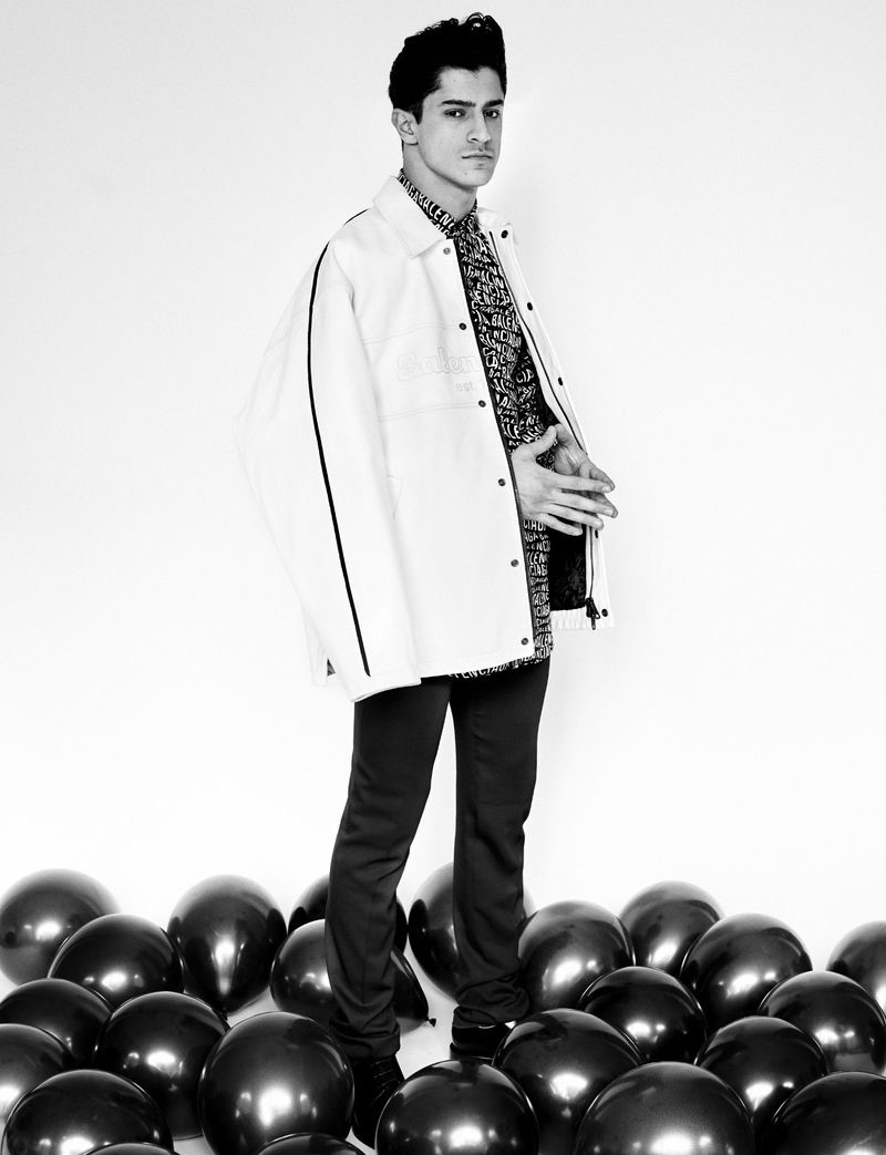 Cyrus Amini is Bold in Black & White for Man About Town