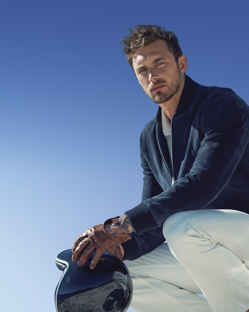 The face of Davidoff Cool Water Intense, Christian Hogue poses for a picture.