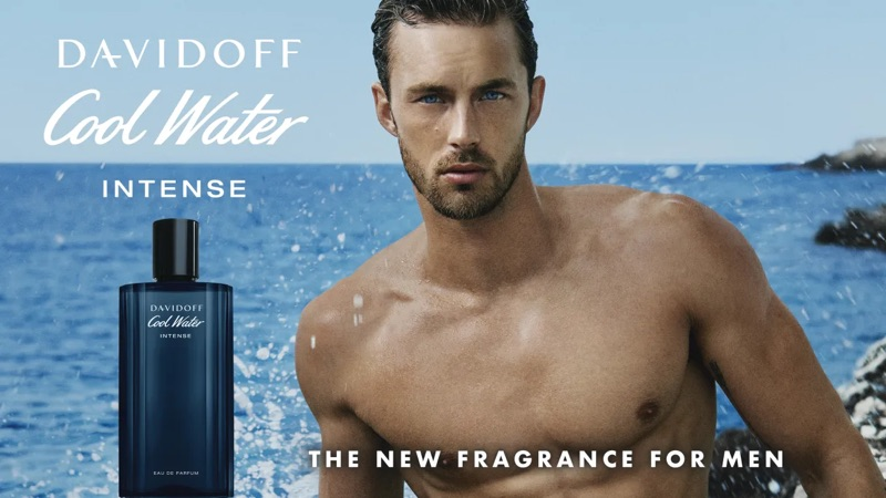 Davidoff Cool Water Intense fragrance campaign featuring Christian Hogue