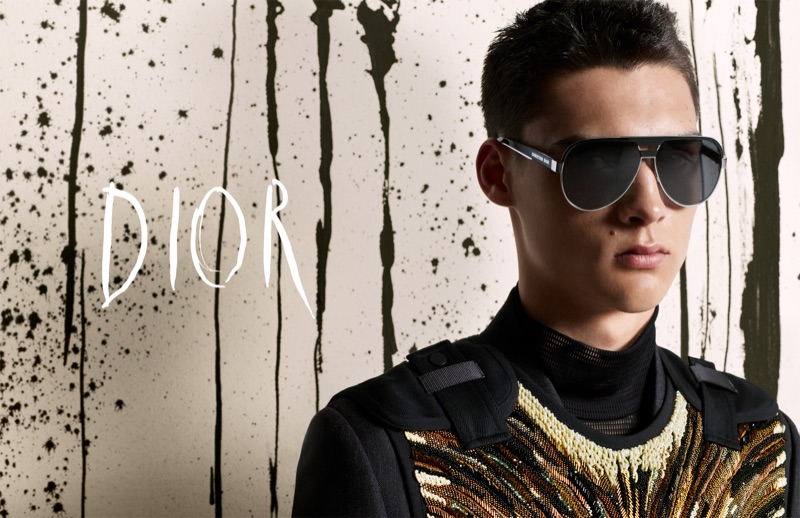 Ludwig Wilsdorff stars in Dior Men's fall-winter 2019 campaign.