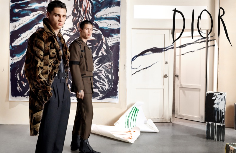 Steven Meisel photographs Ludwig Wilsdorff and Kohei Takabatake for Dior Men's fall-winter 2019 campaign.