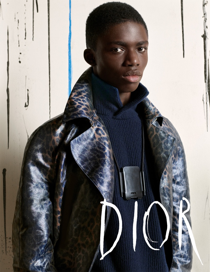 Jeremiah Berko Fourdjour appears in Dior Men's fall-winter 2019 campaign.