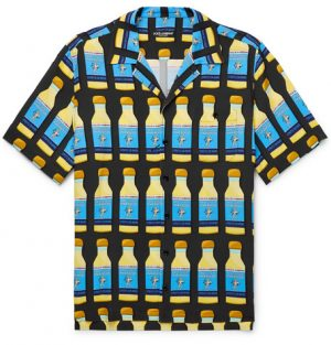 Dolce & Gabbana - Camp-Collar Printed Woven Shirt - Men - Multi