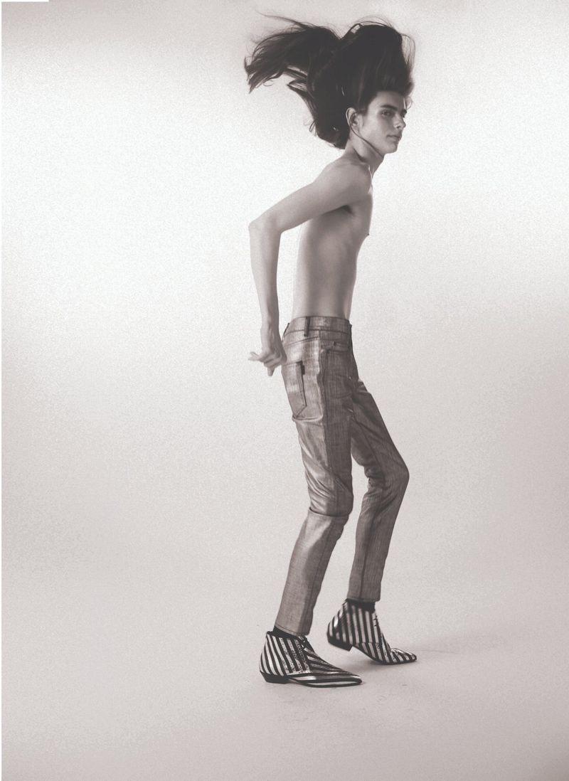 Dylan Christensen Models Saint Laurent for 10+ Cover Story