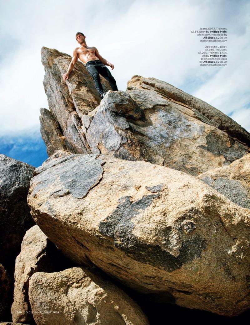 Elliott Reeder Rocks Philipp Plein for British GQ