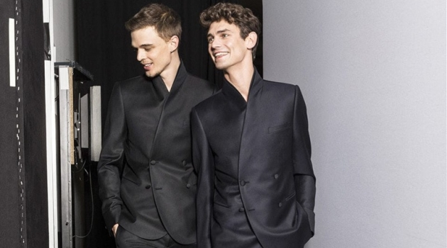 André Bona, Arthur Gosse + More Go Backstage with Emporio Armani for Fall '19 Catalog