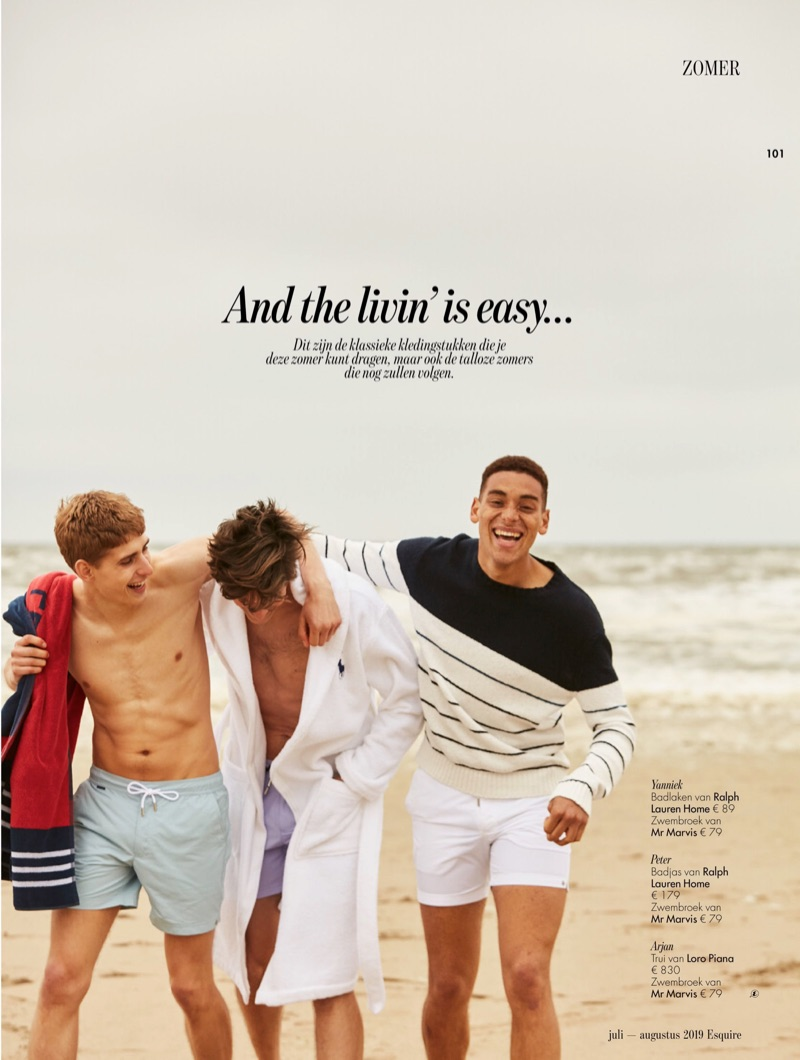 Peter Adrian, Yanniek Buijs + More Don Preppy Style for Esquire Netherlands