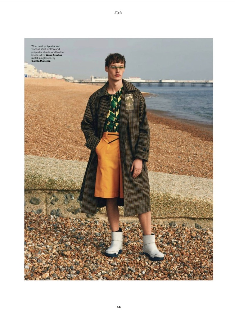 Roberto Sipos & Anders Hayward Hit the Beach in Statement Style for Esquire Singapore
