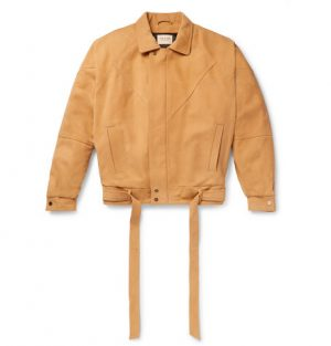 Fear of God - Belted Panelled Nubuck Jacket - Men - Yellow