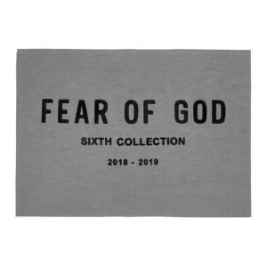 Fear of God Grey Chenille Embroidered Throw