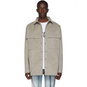 Fear of God Grey Suede Shirt Jacket