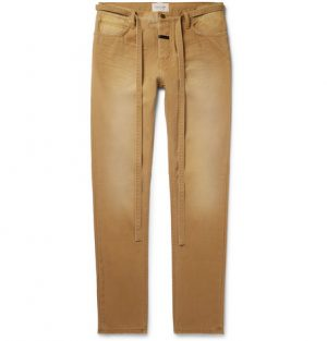 Fear of God - Slim-Fit Belted Cotton-Canvas Trousers - Men - Tan