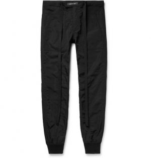 Fear of God - Tapered Belted Quilted Nylon Trousers - Men - Black