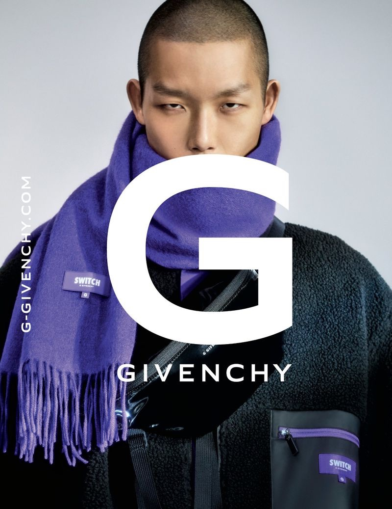 Xu Meen fronts the G Givenchy fall-winter 2019 men's campaign.