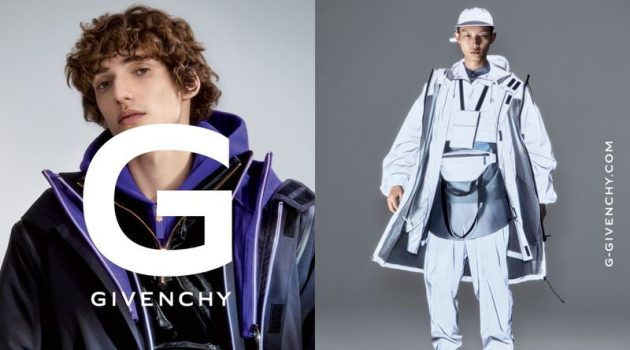 Daniel P. Shea photographs Quintin Van Konkelenberg and Xu Meen for the G Givenchy fall-winter 2019 men's campaign.