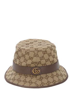 Gg Cotton Canvas Bucket Hat