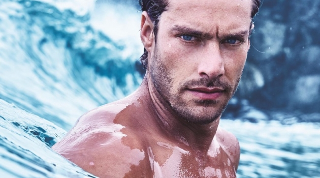 Front and center, Gonçalo Texeira appears in Avon's Musk fragrance campaign.
