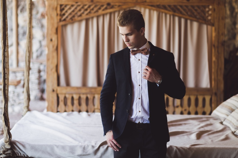 Groom Wedding Day Bed Suit