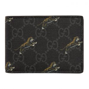 Gucci Black GG Tiger Wallet