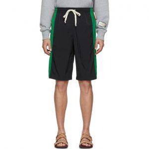 Gucci Black Nylon Shorts