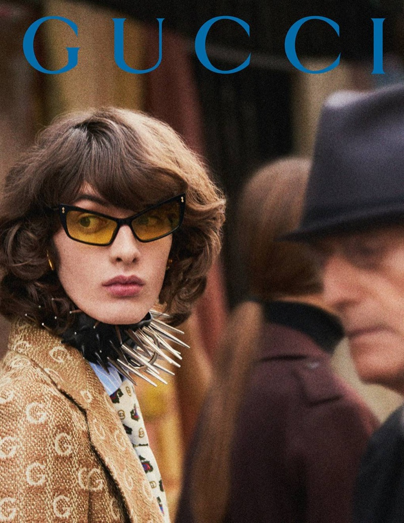 Gustave Khaghani is a chic vision for Gucci's fall-winter 2019 men's campaign.