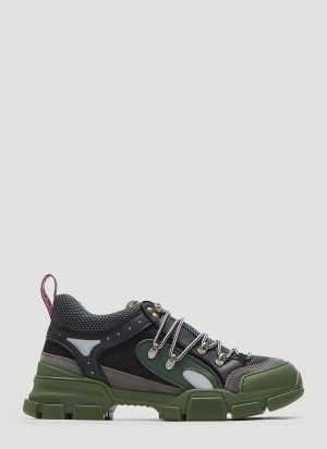 Gucci Flashtrek High-Top Sneakers in Khaki size UK - 08