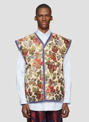 Gucci Floral Jacquard Gilet in Beige size IT - 46