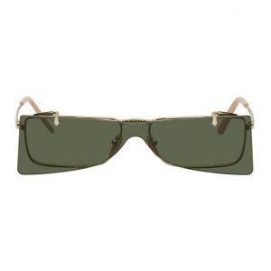 Gucci Gold Skinny Flip-Up Sunglasses